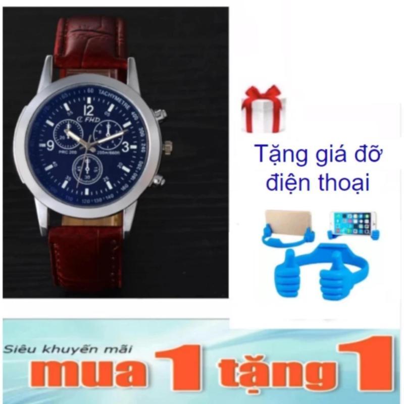 Nơi bán Đồng Hồ Nam Dây Da zi4 PGH + Tặng Giá Đỡ Cánh Tay Lớn