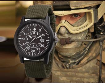 Đồng hồ nam dây dù lính SINO JAPAN MOVT SN9119 (Xanh rêu) - 5