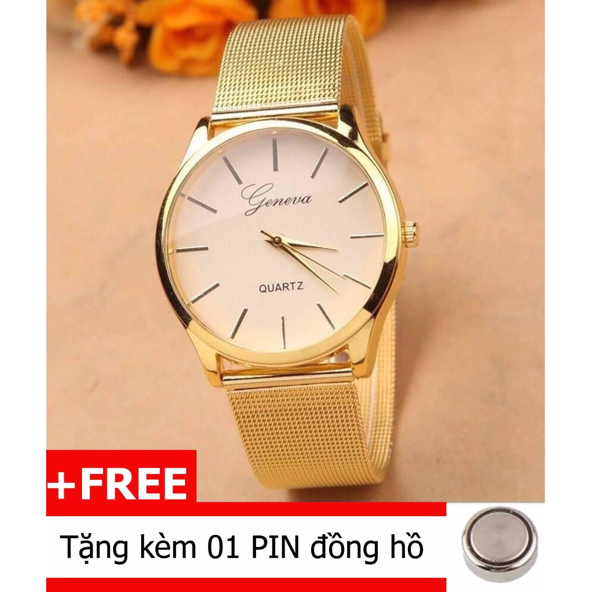 Mẫu sản phẩm Đồng hồ nam dây hợp kim Geneva 1001