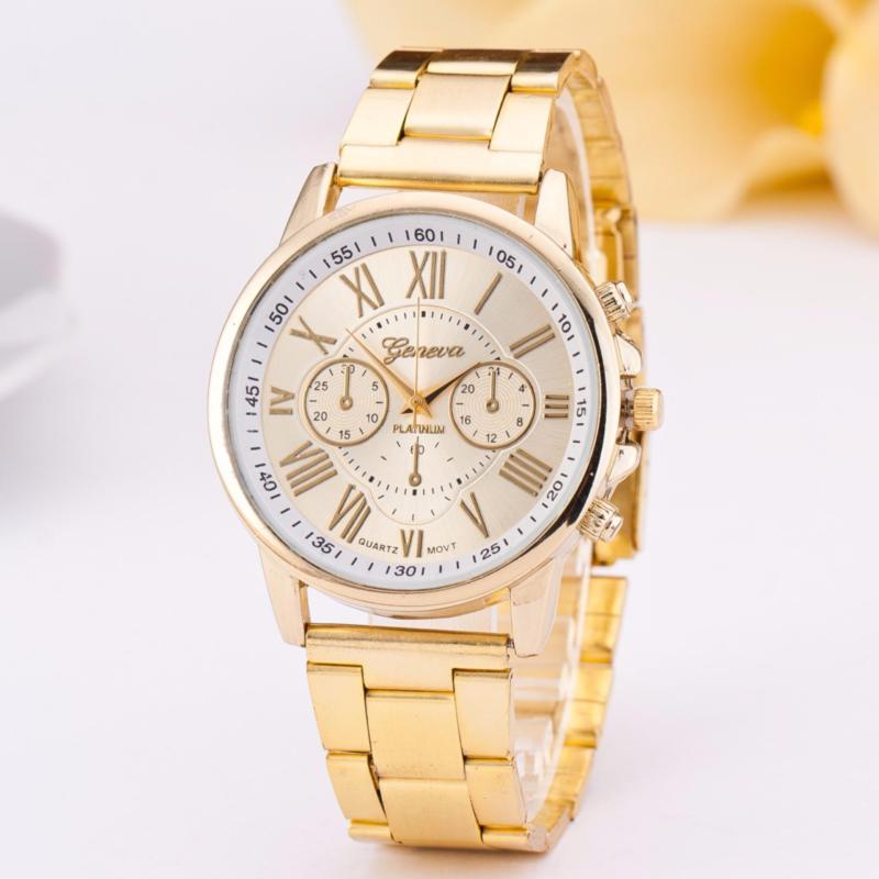 Nơi bán Đồng hồ nam dây hợp kim Geneva G901 (Vàng)