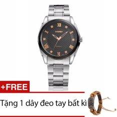 Đồng hồ nam dây hợp kim Geneva GE034-1 + Tặng 1 dây đeo tay bất kì