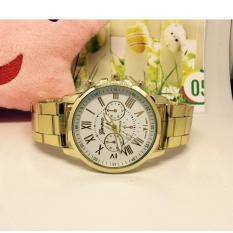 Đồng hồ nam dây hợp kim Geneva (mặt trắng)
