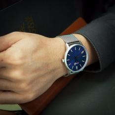 Đồng hồ nam dây hợp kim thép Curren 8233C (MẶT XANH)
