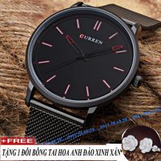 Đồng hồ nam dây hợp kim thép Curren8233 màu đen DHC82c