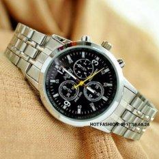 Đồng hồ nam dây inox cao cấp Nary DH63B (Mặt Đen)