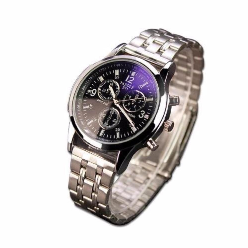 Đồng hồ nam dây inox không gỉ YZL 271 (Bạc)