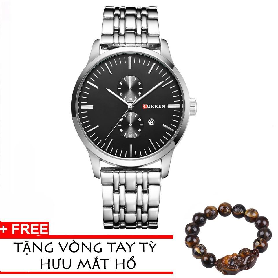 Đồng Hồ Nam Dây Inox Tct Curren 8133Dhcr002 (En) + Tặng Vòng Tay Tỳ Hưu Mắt Hổ