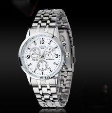 Đồng hồ Nam dây inox thương hiệu NARY 6033 KLNR6033A (Mặt trắng)