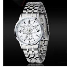Đồng hồ Nam dây inox thương hiệu NARY 6033 KLNR6033b (Mặt trắng)