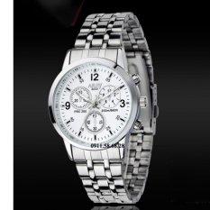 Đồng hồ Nam dây inox thương hiệu NARY 6033 KLNR6033C (Mặt trắng)