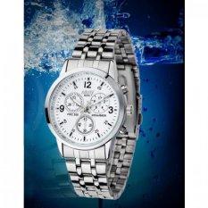 Đồng hồ Nam dây inox thương hiệu NARY 6033 NR6033 (Mặt trắng)