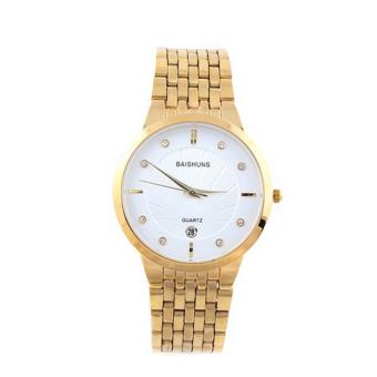 Đồng hồ nam dây kim loại Baishun BAS18366-15NA (Vàng)