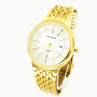 Đồng hồ nam dây kim loại Baishun BS21104-15NA (Vàng)