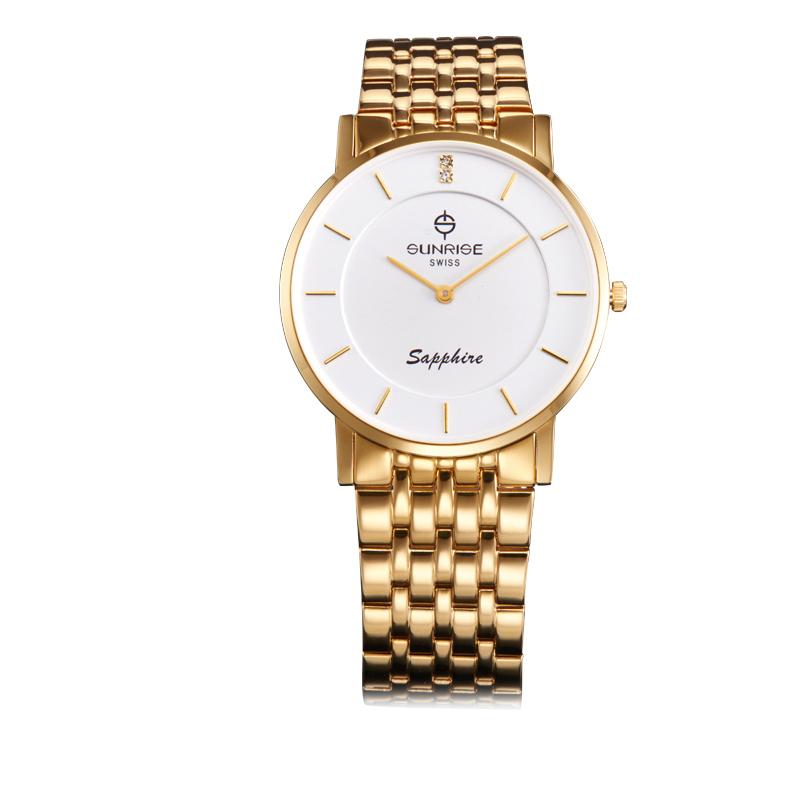 Nơi bán Đồng hồ nam dây da mặt kính sapphire chống xước Sunrise DM737MK-GL