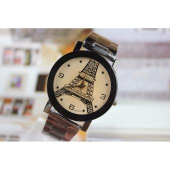 Đồng hồ Nam dây Kim loại tháp Eiffel Yazole 213