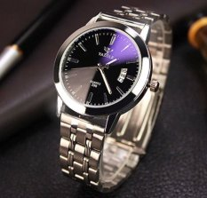 Đồng hồ nam Dây kim loại Yazole European Business kg575 (Mặt Đen)