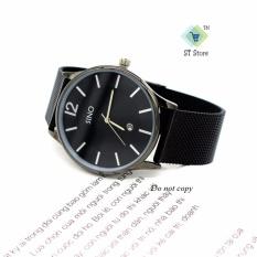 Đồng hồ nam dây lụa thời trang SINO ST-S7155 (đen kim bạc)