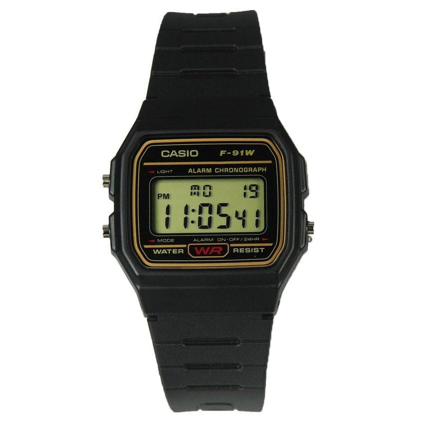 Đồng hồ nam dây nhựa Casio F-91WG-9QDF (Đen).