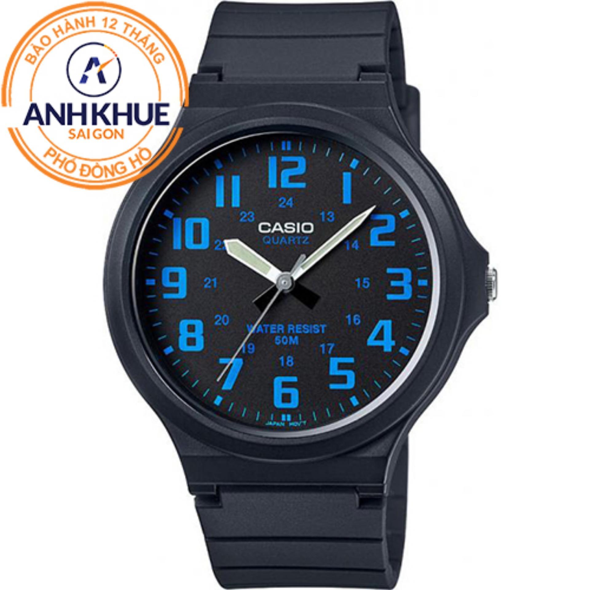 Đồng hồ nam dây nhựa Casio Anh Khuê MW-240-2BVDF