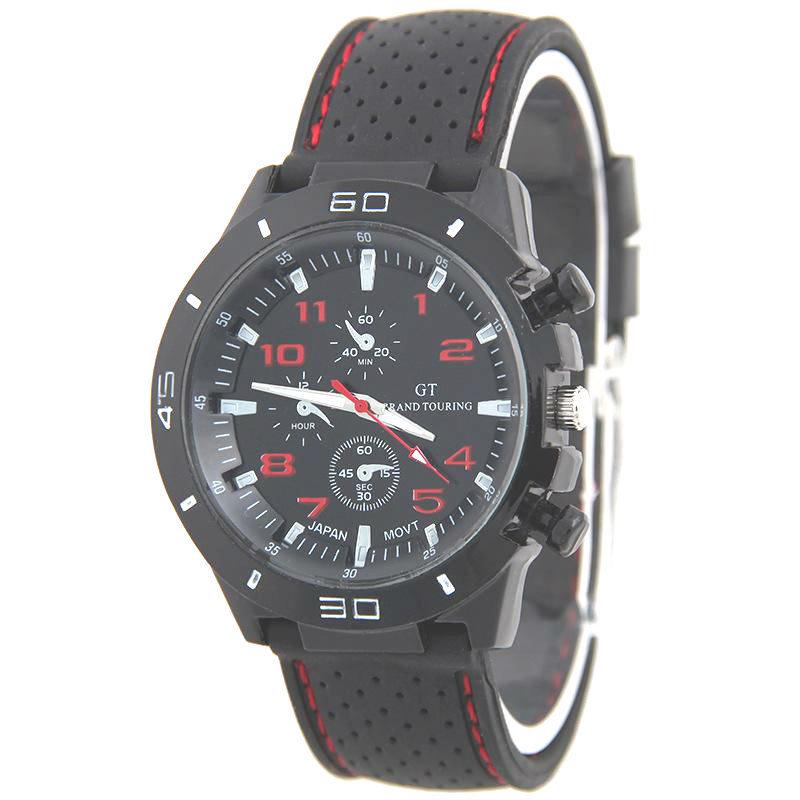 Nơi bán Đồng hồ nam dây silicon GT- TTP (Đen phối đỏ)