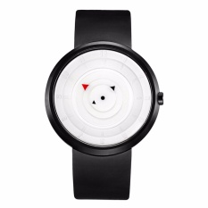 Đồng hồ nam dây silicone Geneva BR002-2 (Đen mặt trắng)