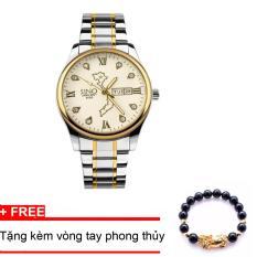 Đồng hồ nam dây thép, bản đồ Việt Nam SINO Japan (Mặt trắng) MDL-S8688, tặng vòng tay đá đen