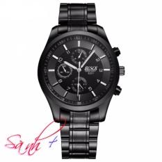 Đồng hồ nam dây thép đen cao cấp BOSCK BO8251