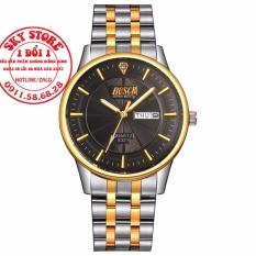 Đồng hồ nam dây thép dermi không gỉ thương hiệu BOSCK 8321 (Mặt Đen)