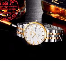 Đồng hồ nam dây thép dermi không gỉ thương hiệu BOSCK 8321 (Mặt trắng)
