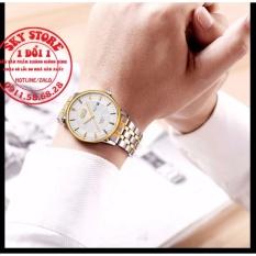 Đồng hồ nam dây thép dermi không gỉ thương hiệu BOSCK 8321T (Mặt trắng)