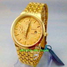 Đồng hồ Nam dây thép hợp kim cao cấp BAISHUNS BSH66 (Full gold)
