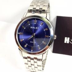 Đồng hồ Nam dây thép ionox chống nước HALEI 502M
