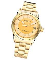 Đồng hồ nam dây thép không gỉ AUTOMATIC Sewor full gold DHSW2291 (Mặt vàng)
