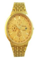 Đồng hồ nam dây thép không gỉ Baishuns BS1 (Vàng)