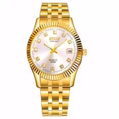Đồng hồ nam dây thép không gỉ Bosck Japan B01 (Vàng)