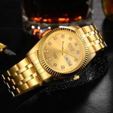Đồng hồ nam dây thép không gỉ Bosck Japan B01A (Vàng)