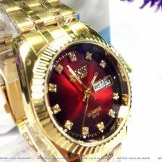 Đồng hồ nam dây thép không gỉ Bosck Japan B3308 (Vàng)