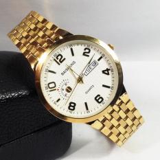Đồng hồ nam dây thép không gỉ cao cấp BAISHUNS BS0012E ( Mặt trắng )