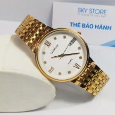 Đồng hồ nam dây thép không gỉ cao cấp BAISHUNS BS332R ( Mặt trắng )