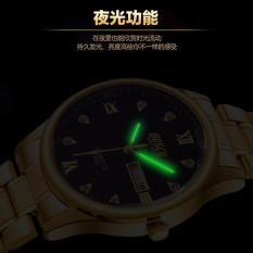 Đồng hồ nam dây thép không gỉ cao cấp BOSCK 3386 BC200H ( Mặt đồng đỏ dây vàng)