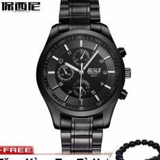 Đồng hồ nam dây thép không gỉ cao cấp BOSCK BS1991Q + tặng kèm vòng tay tỳ hưu