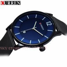 Đồng hồ nam dây thép không gỉ cao cấp CURREN 8231 (Mặt xanh)