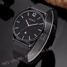 Đồng hồ nam dây thép không gỉ cao cấp CURREN 8888 (đen)