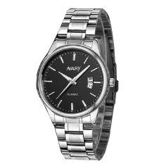 Đồng hồ nam dây thép không gỉ cao cấp Nary IDW 2521 (Mặt đen)