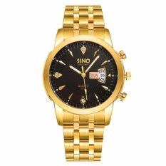 Đồng hồ nam dây thép không gỉ cao cấp SINO Japan 8281 (Mặt Đen)