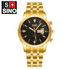 Đồng hồ nam dây thép không gỉ cao cấp SINO Japan SI8281 (Mặt Đen)