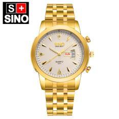 Đồng hồ nam dây thép không gỉ cao cấp SINO Japan SI8281 (Mặt Trắng)