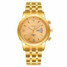 Đồng hồ nam dây thép không gỉ cao cấp SINO Japan 8281 (Mặt Vàng)