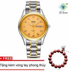 Đồng hồ nam dây thép không gỉ cao cấp SINO Japan STT3031 (Mặt Vàng)