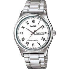 Đồng hồ nam dây thép không gỉ Casio MTP-V006D-7BUDF (Bạc)